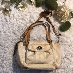 Coach patten Leather Crossbody